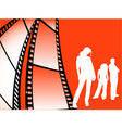 film strip youth vector image vector image