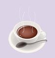 Smoking Hot Coffee vector image vector image