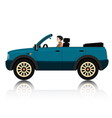 New car travel vector image vector image