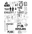 Office Work Doodles vector image