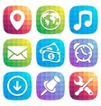 Application Icons in trendy Design element vector image