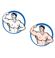 powerful bodybuilder vector image vector image