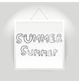 Hand drawn summer font vector image