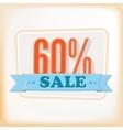 Discount labels 60 vector image vector image