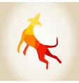 Abstract dog vector image