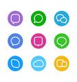 Different color web icons social media pictograms vector image