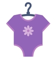 Purple bodysuit for baby vector image