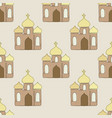 seamless pattern background with church vector image