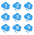 Speech Bubbles with Numbers vector image vector image