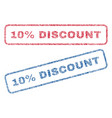 10 percent discount textile stamps vector image