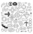 doodle arrow symbols set vector image