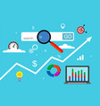 concept of marketing research vector image