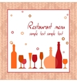 Alcohol bar or restaurant menu vector image vector image