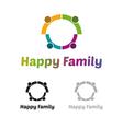 Happy family logo vector image vector image