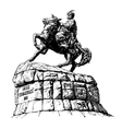 digital drawing of historic monument vector image vector image