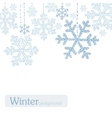 Winter snoflakes background vector image