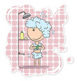girl in the shower vector image vector image