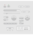 Flat Web UI Elements Design Gray vector image