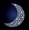moon shape diamonds vector image