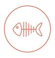 Fish skeleton line icon vector image vector image