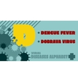 Viral diseases alphabet vector image