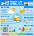 Archive Infographic Set vector image