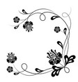 beautiful floral background in black and white vector image
