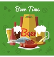 Beer Flat Composition vector image