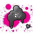 black cloud vector image
