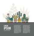Cactus Concept vector image