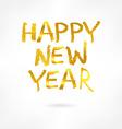 Golden inscription merry happy new year vector image