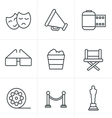 Line Icons Style Movie Icons design vector image