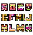 mexican alphabet part 1 vector image
