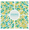 Seamless Teal Yellow Geometric Square vector image