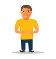 Cartoon Character in Yellow t-shirt vector image