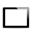 Black tablet computer tablet vector image vector image