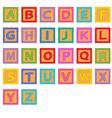 alphabet wooden blocks vector image