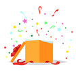 open gift box  holiday collection vector image