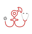 stethoscope in shape of male and female symbol vector image
