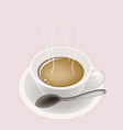 Hot Coffee Background vector image vector image