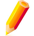 cute orange wooden little pencil vector image vector image
