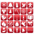 Collection of Christmas icons vector image vector image