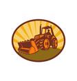 mechanical digger excavator vector image