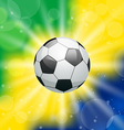 Background with soccer ball for Brazil 2014 vector image vector image