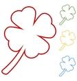 Leaf clover Saint patrick symbol vector image
