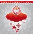 abstract christmas ornate cute frame vector image