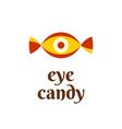 Eye candy fun logo concept vector image