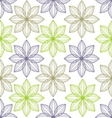 Seamless flower pattern background vector image