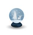 snow globe with deer vector image