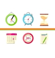 Time Design Flat Concept Clock and Calendar vector image